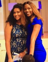 2018 GJM Scholarship Recipient Lauren Hill(left), and Scholarship Team Leader, Takisha Flowers(right)